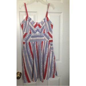 Sleeveless Express printed dress